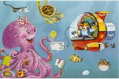 Octopus Receiving Mail Postcard.