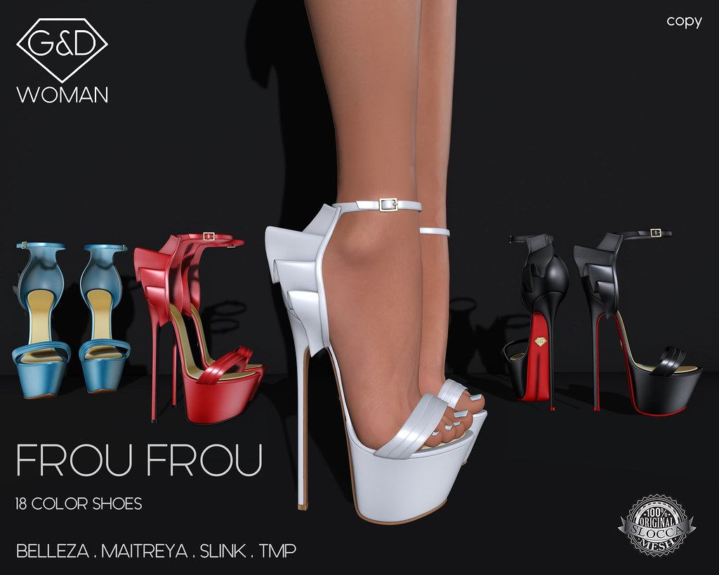 G&D Sandals Frou Frou adv - SecondLifeHub.com