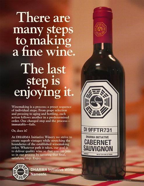 1970 dharma initiative wine ad