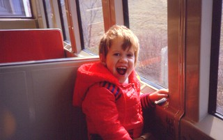Geoffrey on the Zoo Monorail