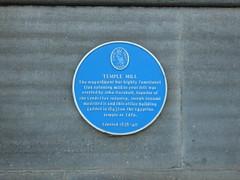 Photo of John Marshall and Joseph Bonomi blue plaque