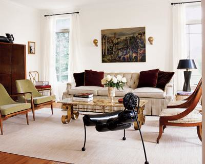 Modern Design Living Room on Eclectic Living Room  Mid Century Danish Modern   English Regency Mix