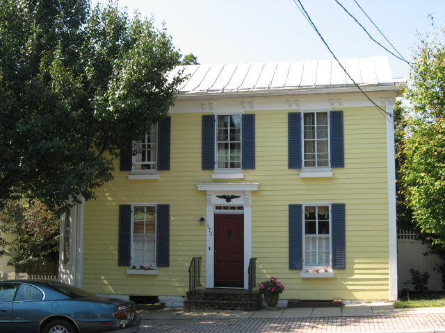Yellow house blue shutters | Flickr - Photo Sharing!