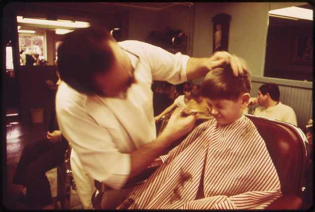 Rockport's Barbershop February,1973  by Deborah Parks for Documerica.