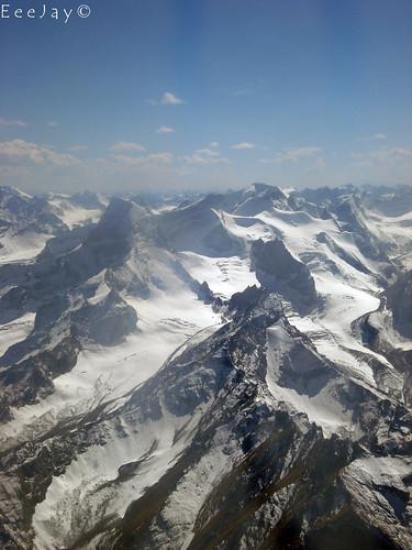 pakistan sky cloud mountain snow mountains skyline clouds plane high scenery skies view scene glacier ranges glaciers ej pia mighty range birdseye highest skardu baltistan eeejay