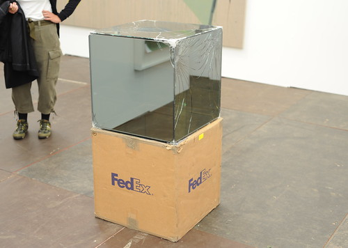 Walead Beshty - Fedex Large Kraft Box © 2005 FEDEX 330508, Standard overnight, Los Angeles - Washington, D.C. Trk #97476282367, April 3-9, 2009 - Thomas Dane Gallery by Tiki Chris