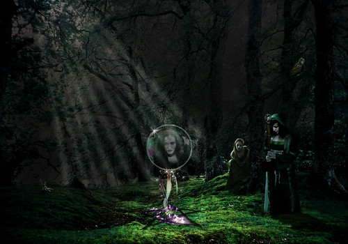 wicca in forest