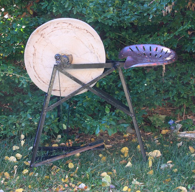 Antique Grinding Wheel For Sharpening Tools Knives