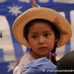 Young Supporter - Political Rally in Tupiza, Bolivia