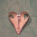 zipper heart ornament