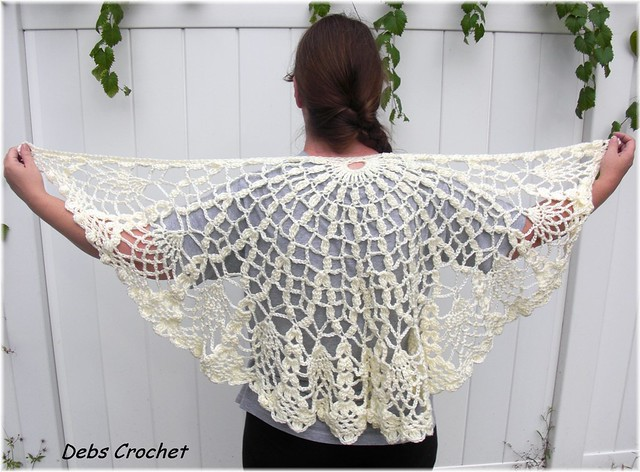 UNIQUE ONE SLEEVED PINEAPPLE SHAWL CROCHET PATTERN | eBay