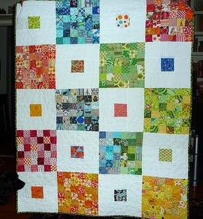 Front of quilt for Hazelnut Baby