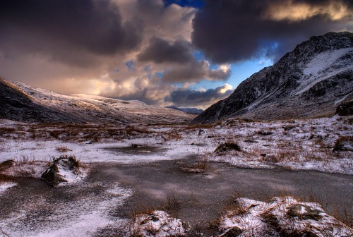'Morning Ice' - Cwm Idwal, Snowdonia, North Wales