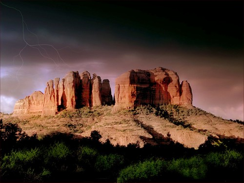 Storm Over Cathedral at Sedona