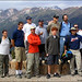 A handful of players on the top of Aspen Mountain for 2004 Kiss the Sky.