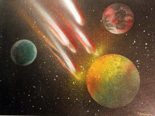 planets by spray can !