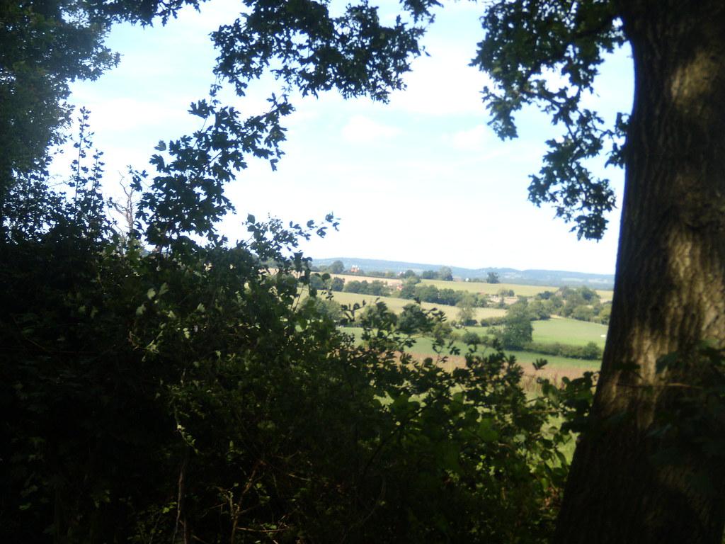View through a gap Cowden to Hever