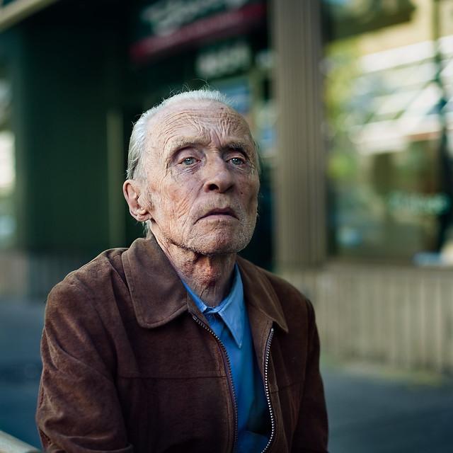 A stranger: plaza st-hubert: George Bolduc 78 years old