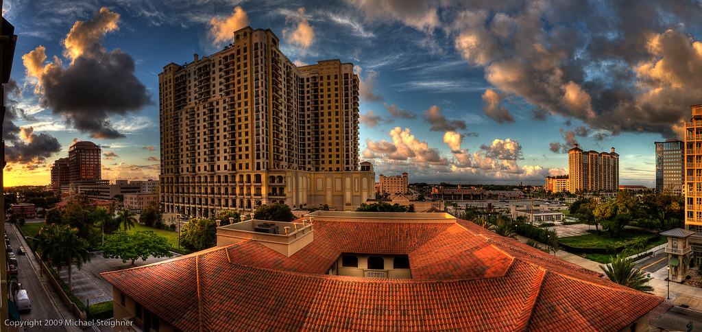 A great view to wake up to - from the balcony here in West Palm Beach, FL by MDSimages.com