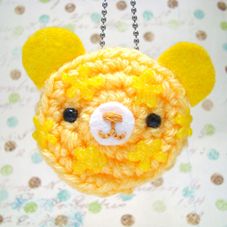Amigurumi Lemon : Amigurumi Lemon Flower Burst Cookie Bear Keychain ...