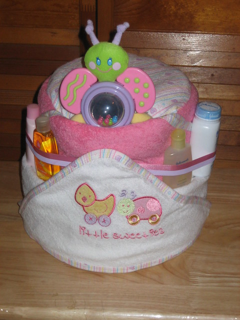 baby bath diaper cake flickr photo sharing. Black Bedroom Furniture Sets. Home Design Ideas
