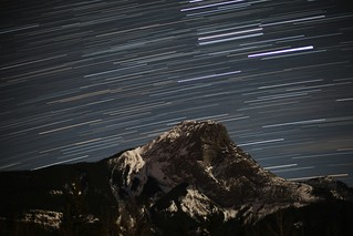 Star trails over Roche Perdrix, Jasper National Park | by frogofpeace
