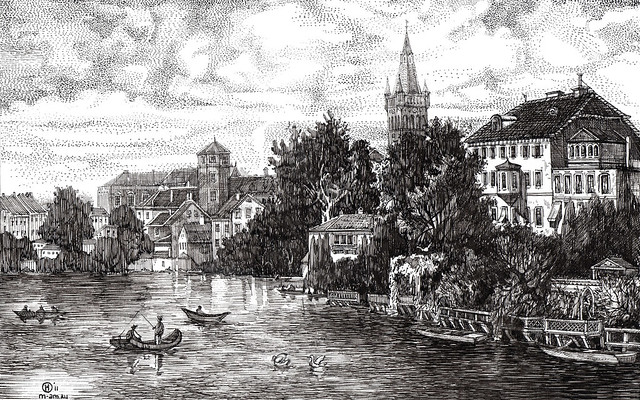 Castle pond in konigsberg / замковый пруд в кёнигсберге - a .