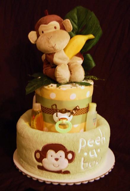 Peek A Boo Monkey Diaper Cake Flickr Photo Sharing