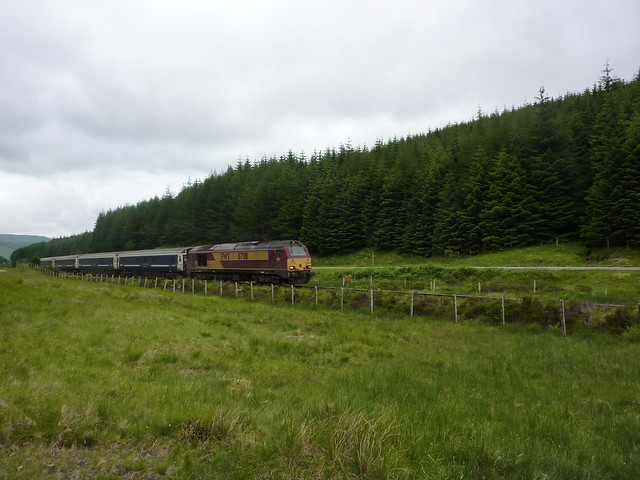 The Caledonian Sleeper heading to Fort William