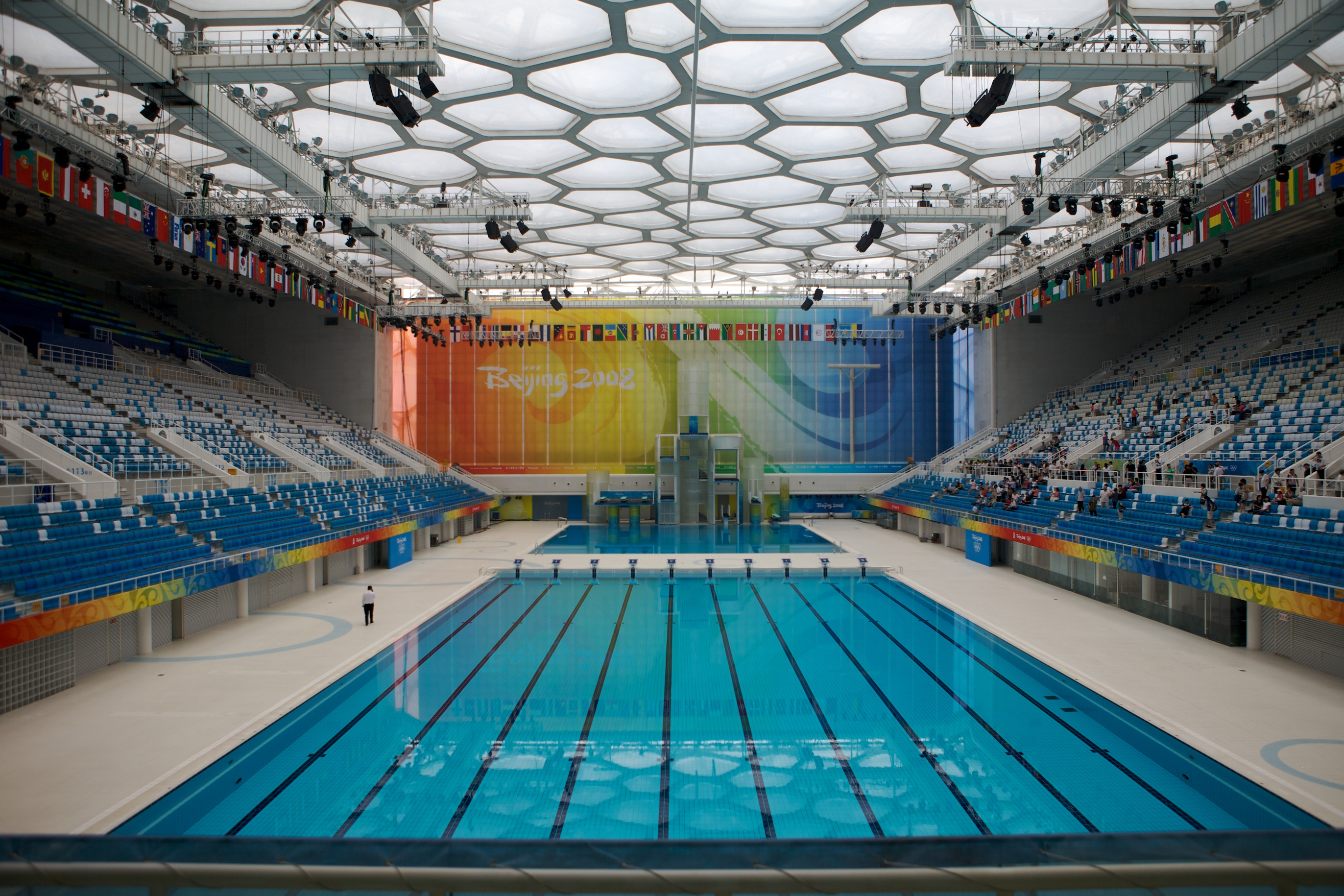 Olympic swimming pool flickr photo sharing for Beijing swimming pool olympics
