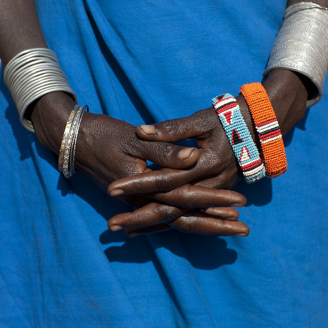 Samburu hands with bracelets - Kenya