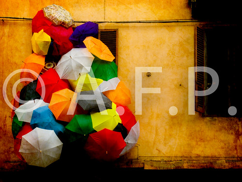 **** colourful umbrellas