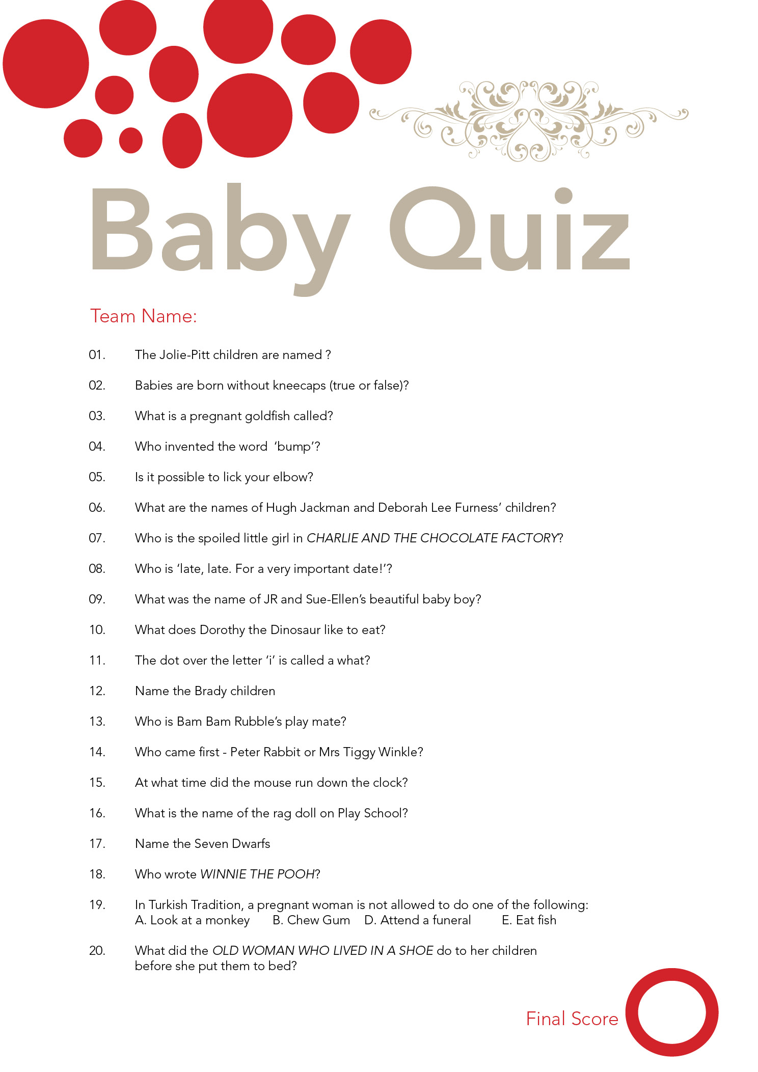 Baby Shower Theme Quiz ~ Baby shower quiz flickr photo sharing