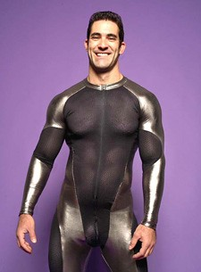sexy sports mercury suit halloween costume for men