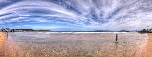 Beach / Playa de El Sardinero, Santander HDR