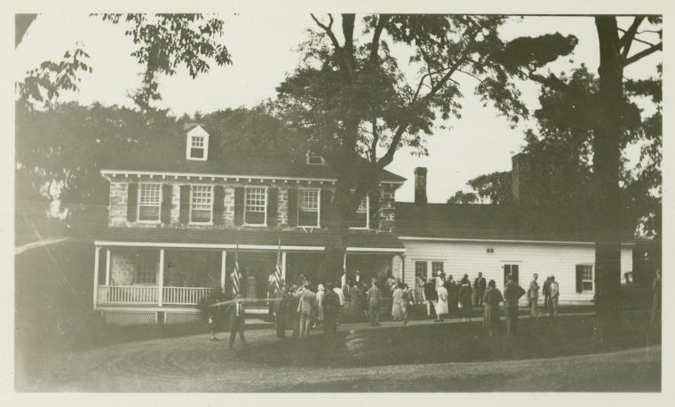 General Knox's headquarters during the encampment of Washing...