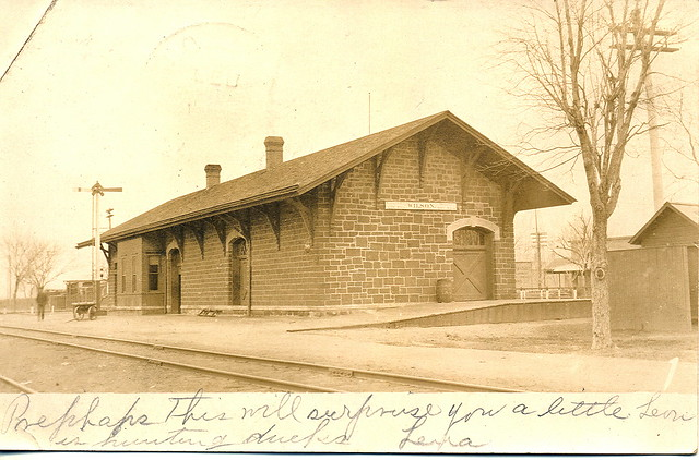Wilson Ks Rppc Railroad Depot Founded 1873 Kansas City To
