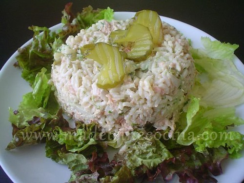 Ensalada de at n con arroz light madeleine cocina - Ensalada de arroz y atun ...