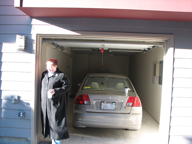 Tandem garage w bonus kat and my car flickr photo for Tandem garage