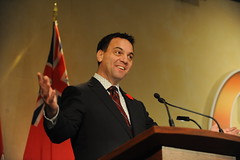 Tim Hudak takes the stage