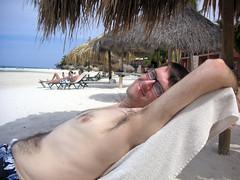 Aaron Basking in the Sun