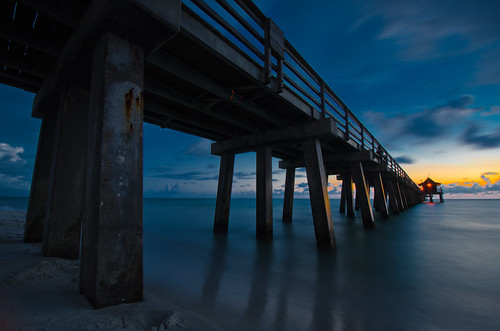 sunset night landscape photography pier florida naples nikond7000