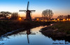 Blue hour at Boezemmolen nr. 6 by Stephan Neven