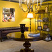 Chic & cheerful: Yellow foyer + gray trim: 'Babouche' + 'Down Pipe,' by Farrow & Ball