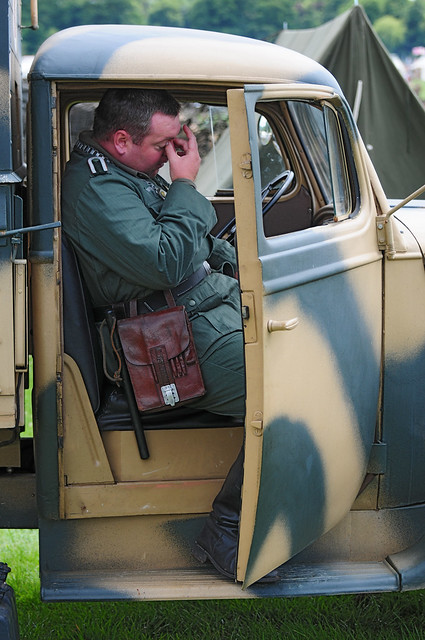German Soldier (Re-enactor) at Kelmarsh Festival of History 2009