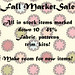 fall market sale