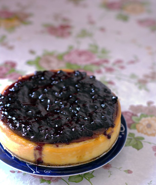 Day 266 - Homemade Baked Blueberry Cheesecake | Flickr - Photo Sharing ...