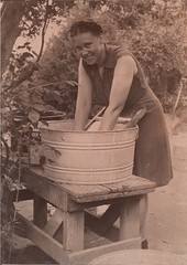 Emma washing in the 1930s