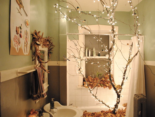 Inspired halloween spreads study 39 s mad scientist lab for Forest bathroom ideas