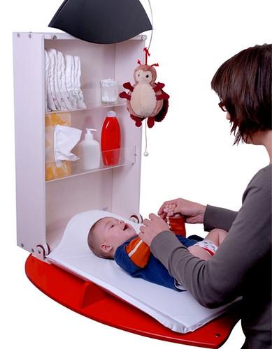 Muebles cambiadores para beb de pared for Muebles cambiadores de bebe